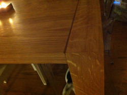 Solid oak dinning table