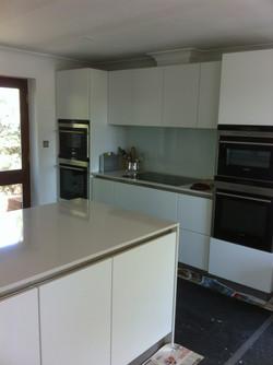 High gloss white modern kitchen