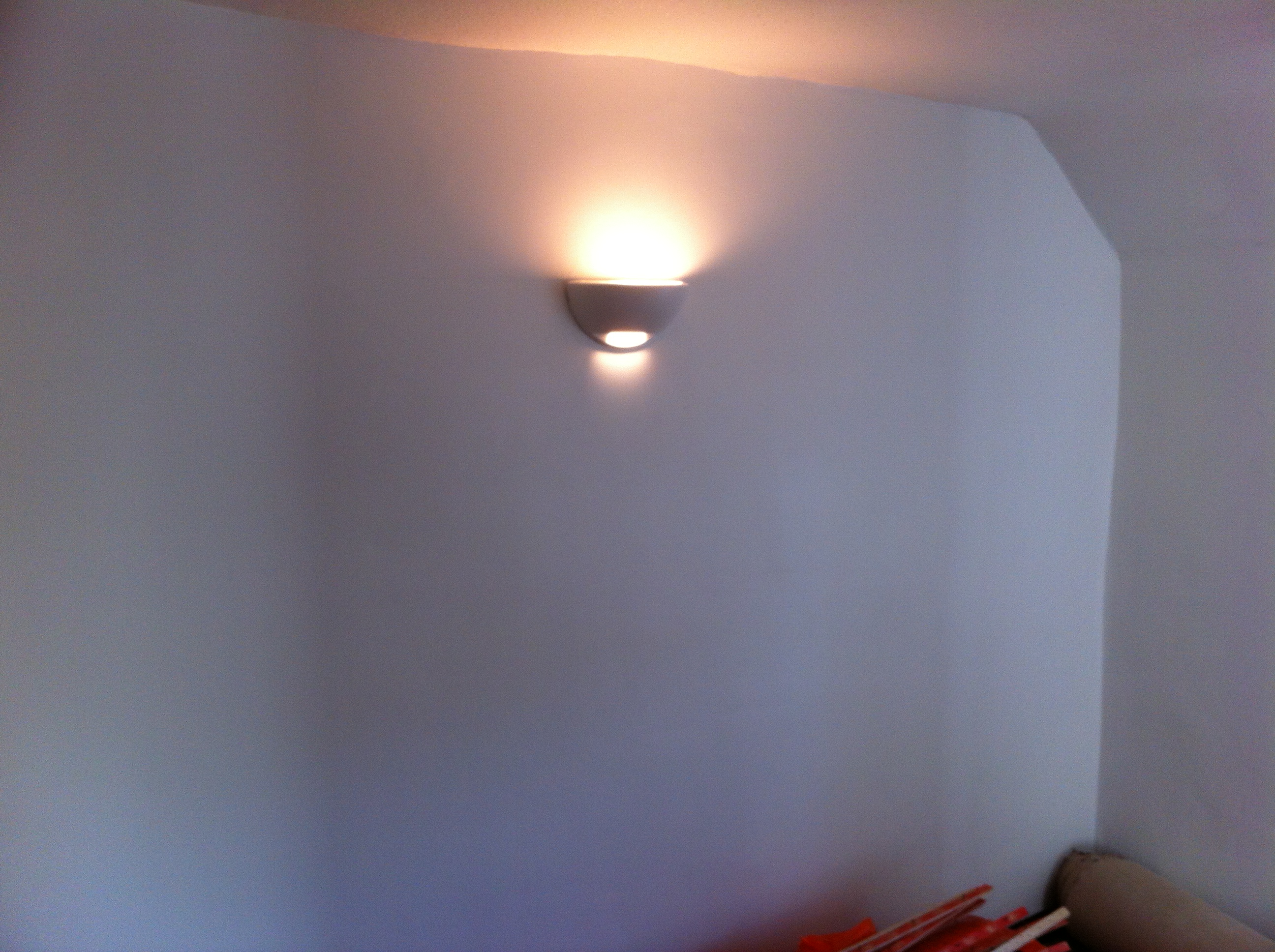 Plastering cottage bedroom