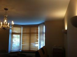 Plastering living room