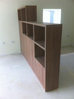 Walnut room divider