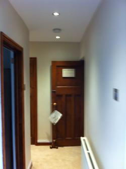 Plastering hall way