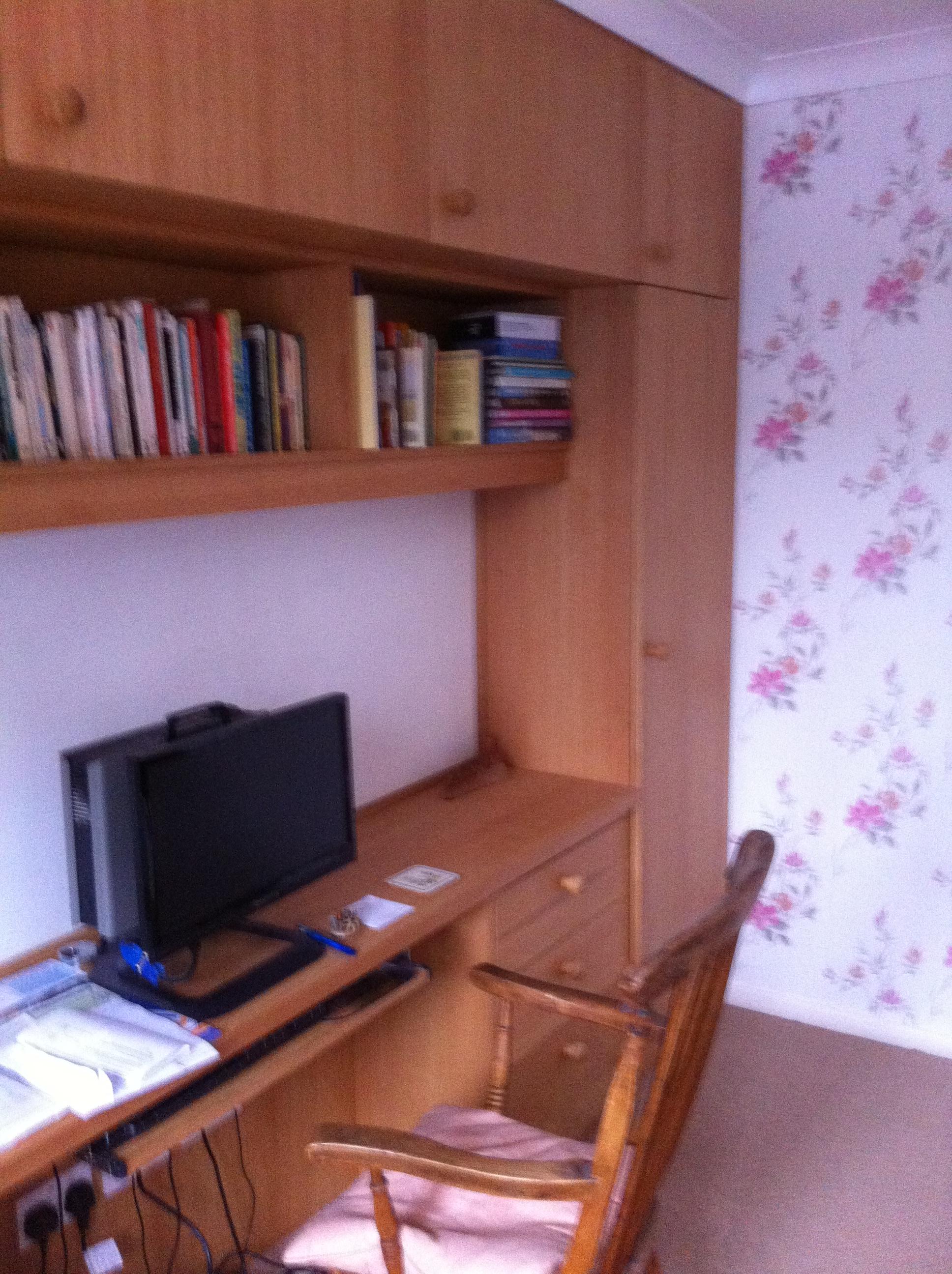 Oak storage desk
