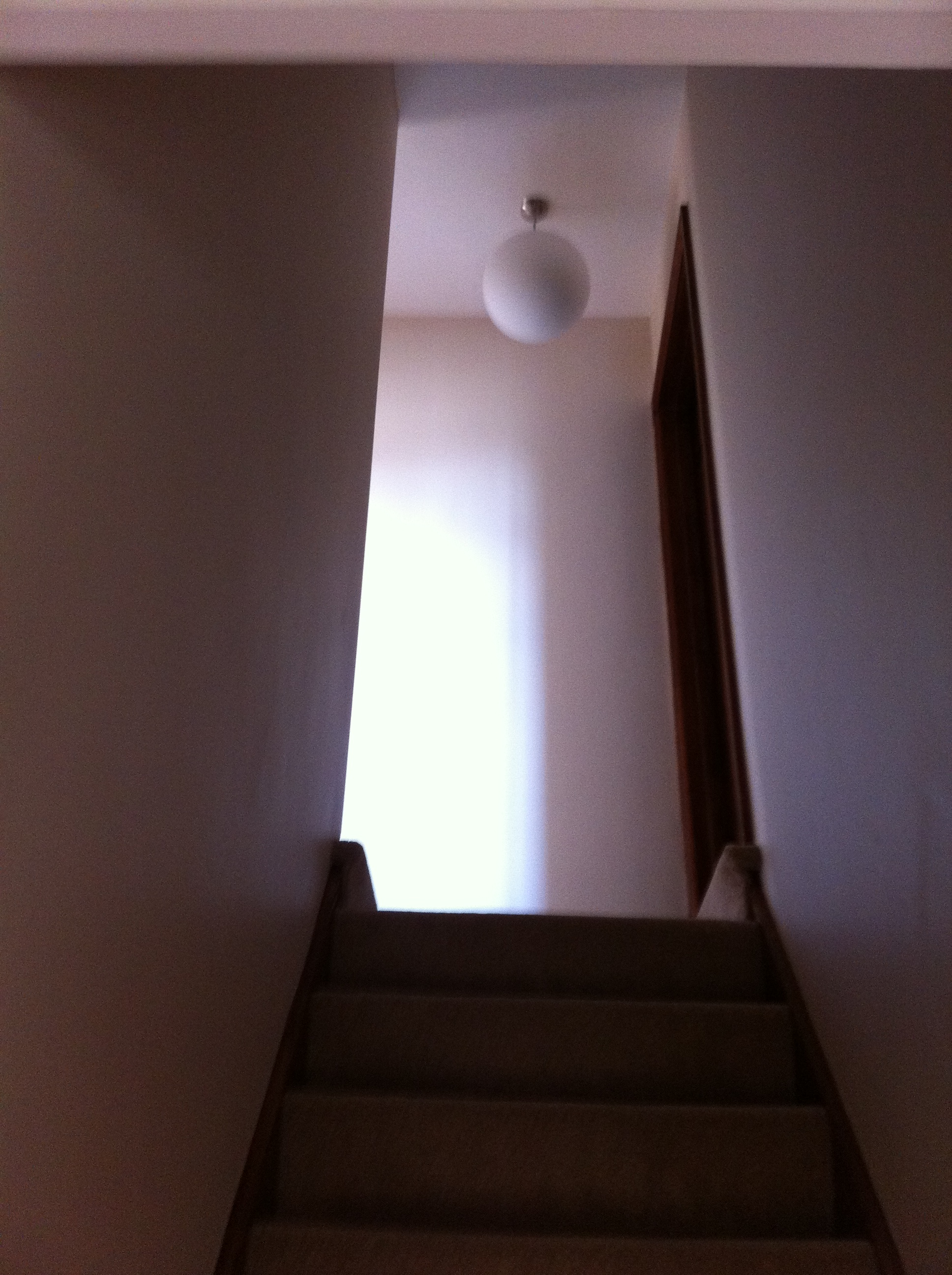 Plastering stair well
