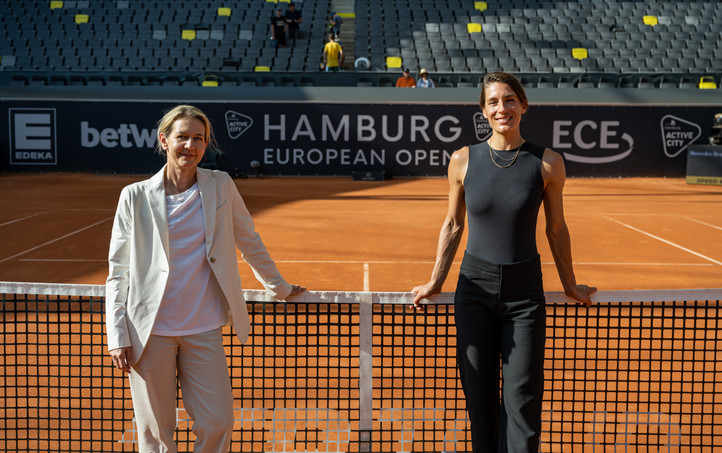 Geballte Power am Netz: Sandra Reichel und Andrea Petkovic