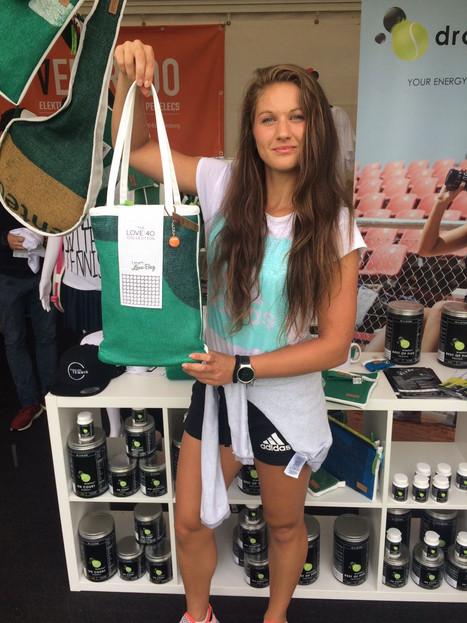 Michaela Honcova nach ihrem Match