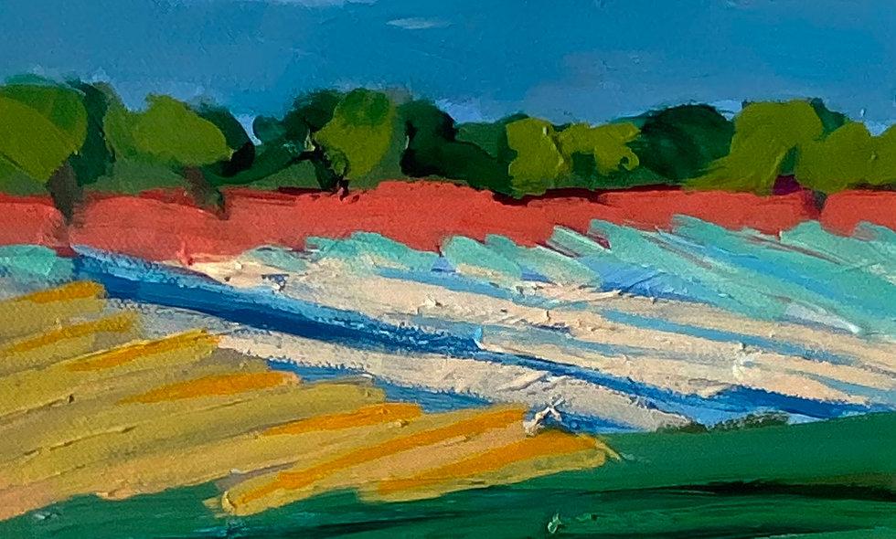 """Fields 1"" | 8x8 | Canvas"
