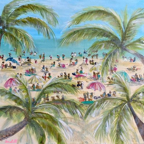 """Palm Haze"" | 36x36 | Canvas"