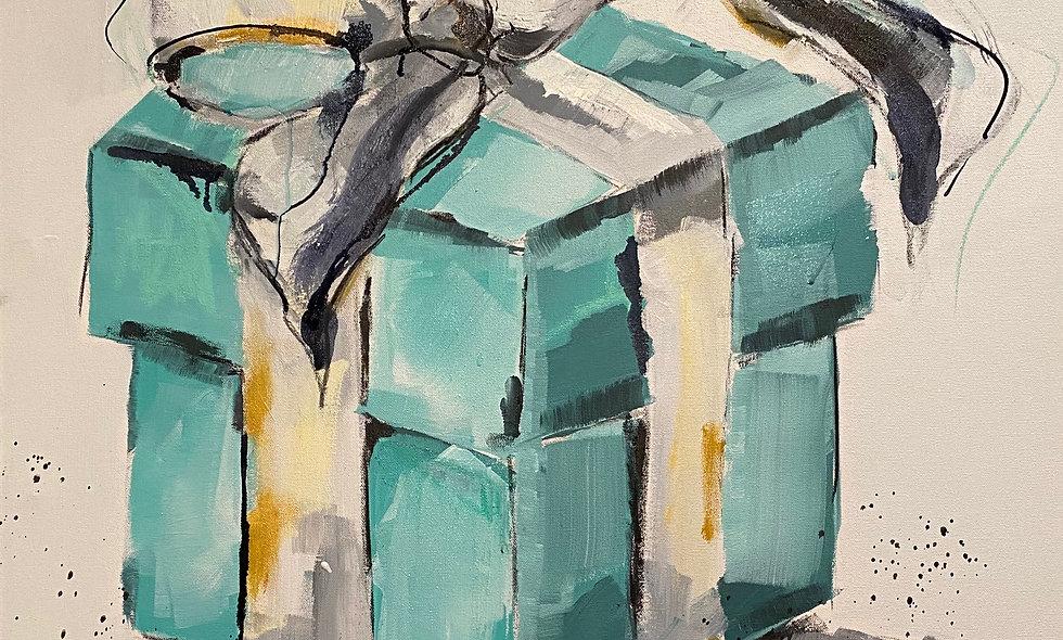 """Breakfast at Tiffany"" | 30 x 30 | Canvas"