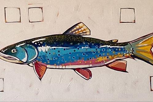 """Brook Trout"" | 24x12 | Canvas"