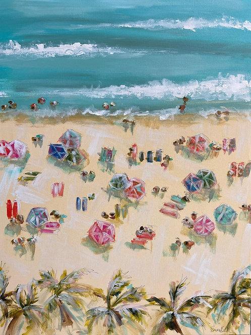 """Birds Eye Beach"" | 30x40 | Canvas"