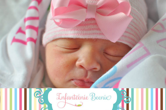 7a810187b83 Infanteenie Beenie newborn hospital hats for baby girls and baby boys