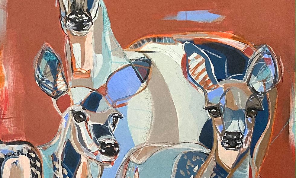 """Deer Camp""   36x48   Canvas"