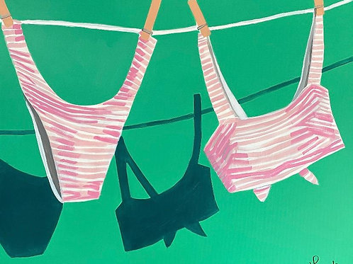 """Lucky Bikini""   24x30   Canvas"