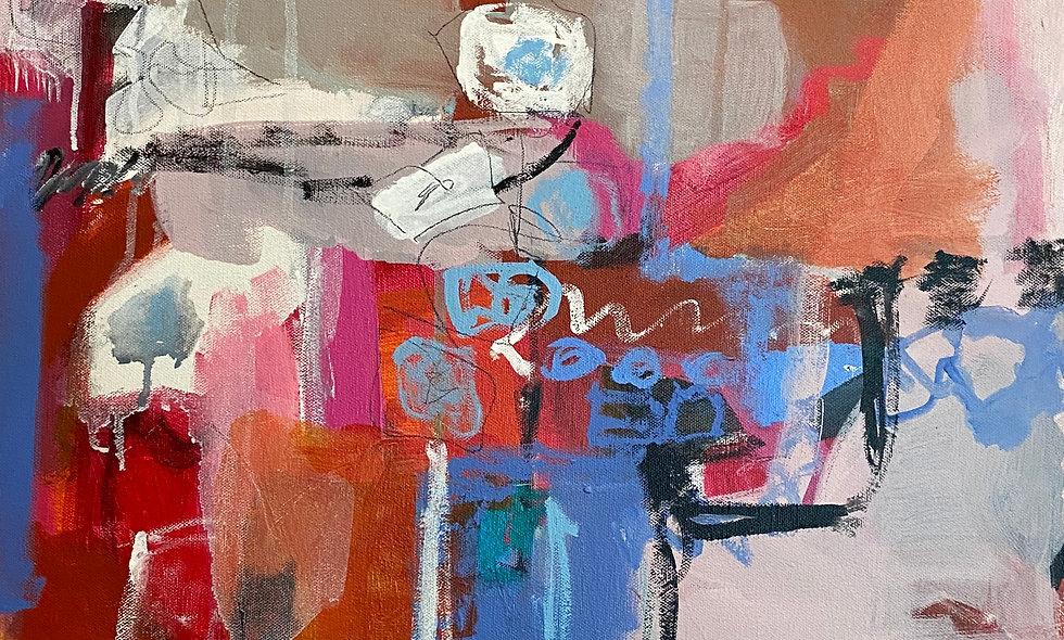 """White Poppies"" | 20 x 20 | Canvas"