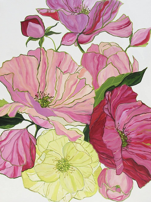 """Blooms of Eden""   36 x 48   Canvas"