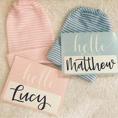 copy of Hello My Name Is .... Baby Introduction and Name Announcement Sticker