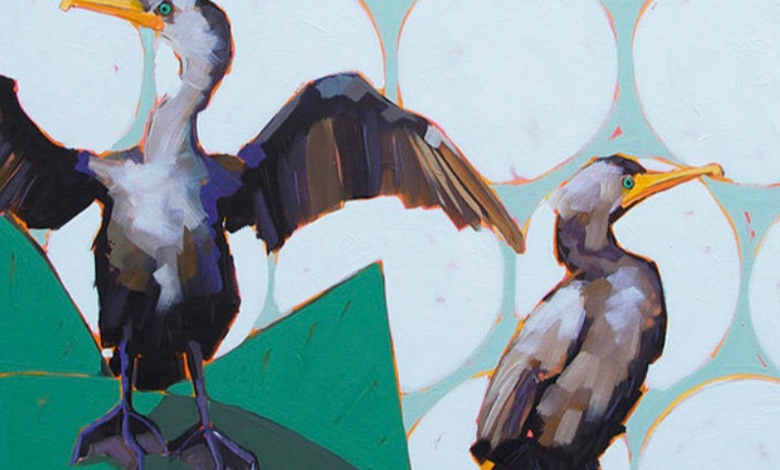 """Cormorants"" | 24 x 30 | Canvas"