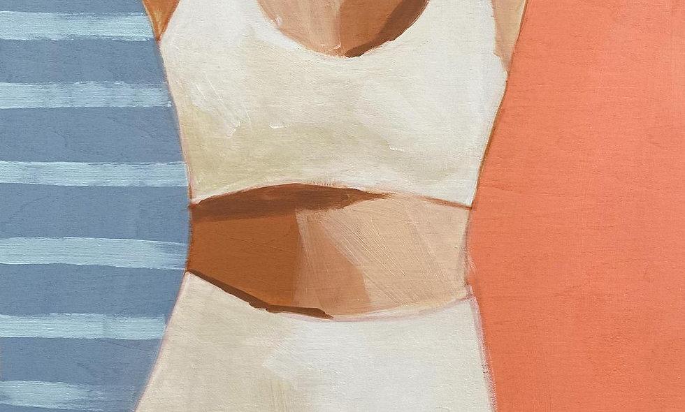 """Swimmer 2"" | 12 x 16 | Wood Panel"