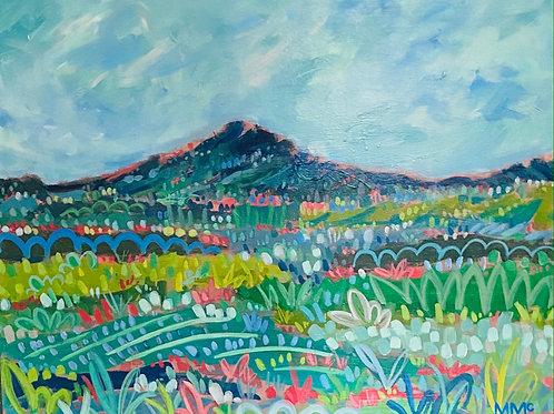 """Mountainside 1"" | 24x30 | Canvas"