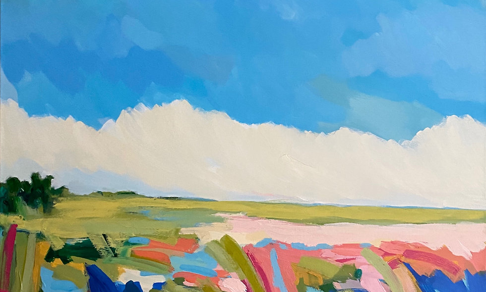 """Marsh Grass"" | 24 x 30 | Canvas"