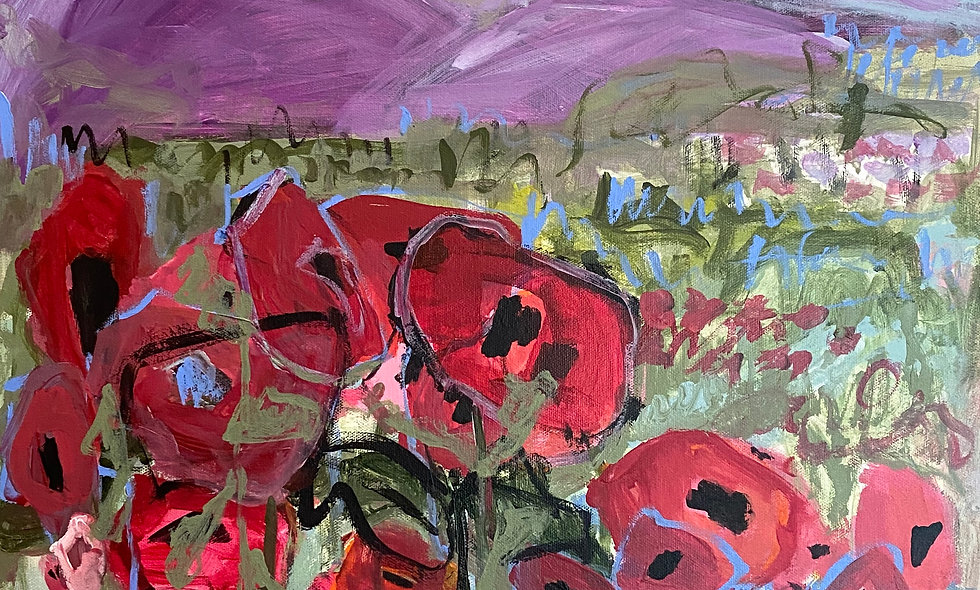 """""""Mountain Poppies""""   20 x 20   Canvas"""
