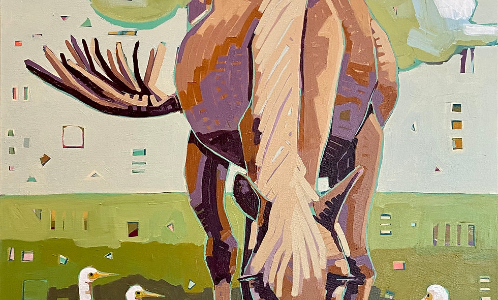 """""""Hooves and Feathers""""   24 x 30   Canvas"""
