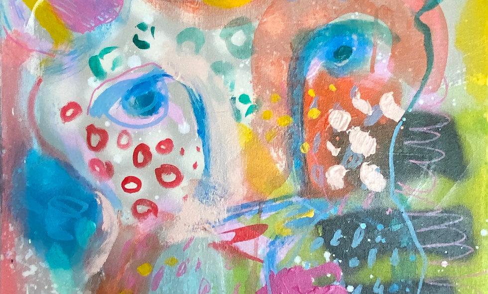 """Halting Harry"" | 24 x 24 | Canvas"