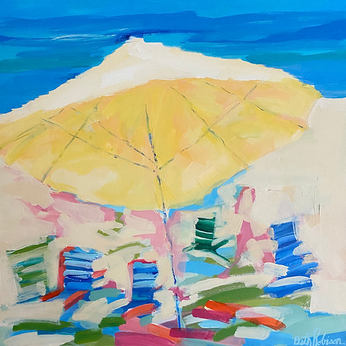 """Beach Umbrella 1"" | 20 x 20 | Canvas"
