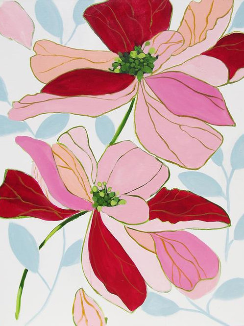 """Bodacious Blooms""   30 x 40   Canvas"