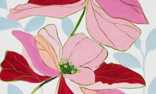 """Bodacious Blooms"" | 30 x 40 | Canvas"