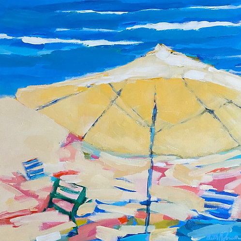 """Beach Umbrella 2""   20 x 20   Canvas"