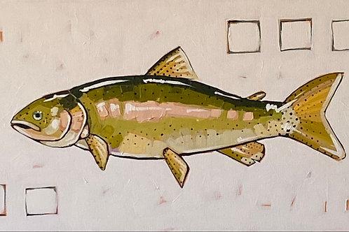 """Rainbow Trout""   24x12   Canvas"
