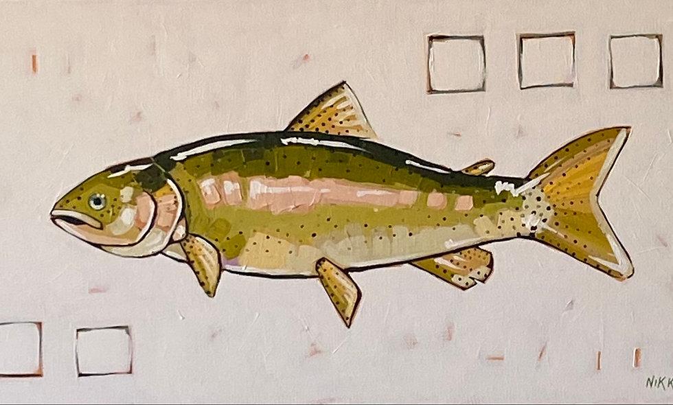 """Rainbow Trout"" | 24x12 | Canvas"