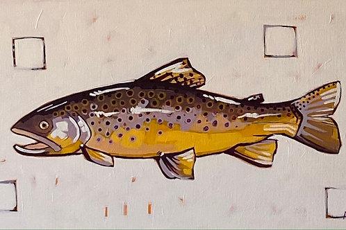 """Brown Trout"" | 24x12 | Canvas"