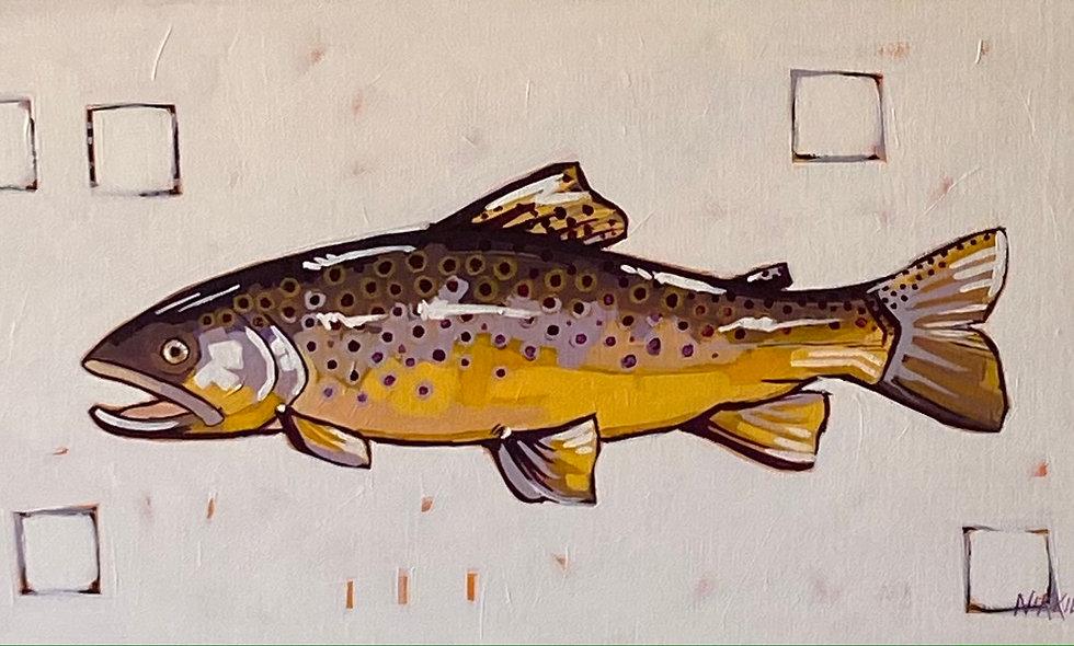 """Brown Trout""   24x12   Canvas"