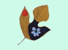 Flower on leaves