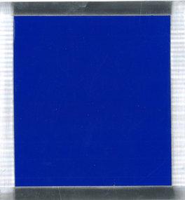 Blue on metal