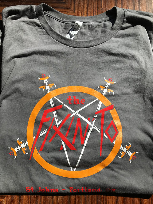 Classic Slayer Fixin' To logo gray tee
