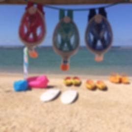 """location de masque de snorkling """"easy breath"""" pour visiter le lagon de la Saline à la Réunion"""