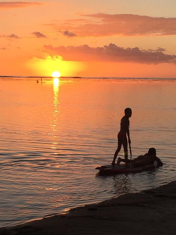 sunset paddle réunion la saline