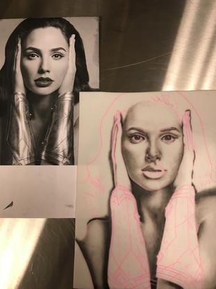 Portrait on practice pad -original vs reproduction