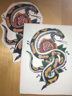 Traditional Snake on Practice Pad