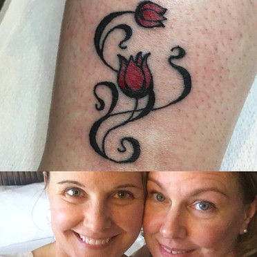 My sister's first tattoo!
