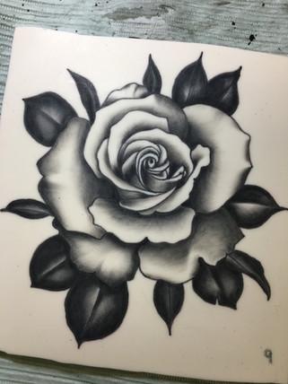 Rose on practice pad