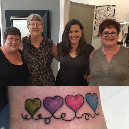 Matching friendship hearts!