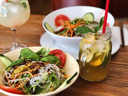 vegetarisch, vegan, vietnamesisch, Restaurant, Berlin, Wilmersdorf, Uhlandstraße, Kudamm, Chi Oh, Glasnudelsalat, vegetarische Vorspeise, vegane Vorspeise, Salat