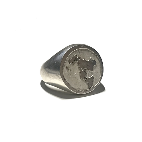 Flat Earth Signet Ring