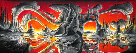 """""""Scarlet Skies"""" Canvas Print"""
