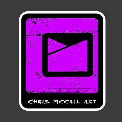 Chris McCall Art Logo Sticker Pink